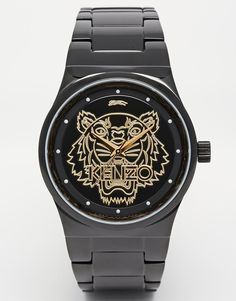 Image 1 of Kenzo Black Small Tiger Link Watch