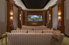 Media room in luxury home in Naples, Florida