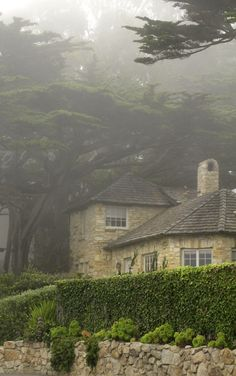 Cottage in the fog - Carmel, California.