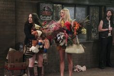 Max (Kat Dennings), Caroline (Beth Behrs) ~ 2 Broke Girls ~ Episode Still ~ Season 3: Episode 1: And the Soft Opening #amusementphile