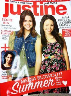 Nice Maia Mitchell And Cierra Ramirez On The Cover Of Justine Magazine