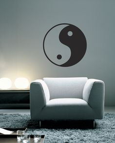 Yin is negative and dark, Yang positive and bright. Their interaction is thought to maintain the harmony of the universe and to influence everything within it. Imagine what this vinyl wall decal can do for the zen in your home.