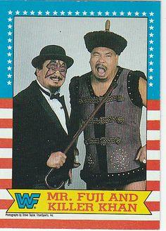 "1987 Topps WRESTLEMANIA III #17 ""Mr. Fuji & Killer khan""*NM-MT>Mint"
