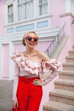 Valentine's Day style featured by top US fashion blogger Lombard and Fifth