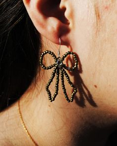 Adorable BronzeColored Bow Earrings by megadelicious on Etsy, $8.00