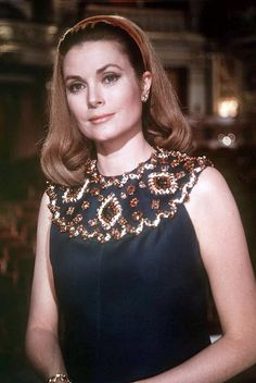 Princess Grace of Monaco is wearing a gown by Givenchy, her hair is by Alexandre, photo by Howell Conant at the Paris Opèra, August 1967 | Flickr - Photo Sharing!