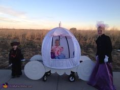 Cinderella's Carriage Homemade from kids' wagon