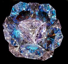 Blue crystal formation