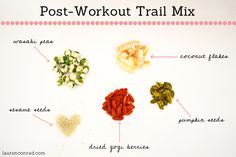 Post-Workout Trail Mix Recipe from Lauren Conrad Healthy Alternatives, Healthy Options, Healthy Tips, Healthy Snacks, Holistic Nutrition, Health And Nutrition, Nutrition Education, Post Workout Snacks, Gym Workouts