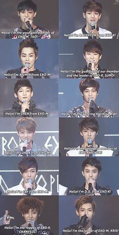 Remember when they first introduced themselves? They look so cute and cuddly >3< #EXO