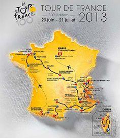 Map: Tour de France 2013