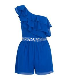 Pixie Side Embellished Ruched Playsuit - Lipsy