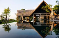 Looking for individual and affordable accommodation in Bali? Here's a list of the most beautiful Airbnb Bali villas. Villas, Tropical Architecture, Eco Friendly House, Luxury Holidays, Tropical Houses, Luxury Villa, House Design, Modern, Vacation Rentals