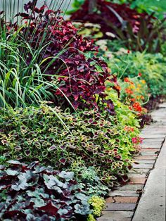 Curb Appeal on a Dime:   Introduce Stone or Brick Edgings  A shallow trench filled with pea gravel or sand makes a simple bedding surface for stones or bricks, which add color and texture.
