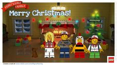 Design a FREE LEGO minifigure holiday card! SO MUCH FUN!