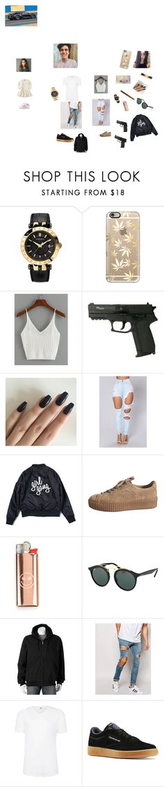 """""""Sem título #62"""" by laurafeldetonello on Polyvore featuring moda, Versace, Casetify, WithChic, Ray-Ban, Calvin Klein, adidas, Victory Rugged Wear, ASOS e Topman"""