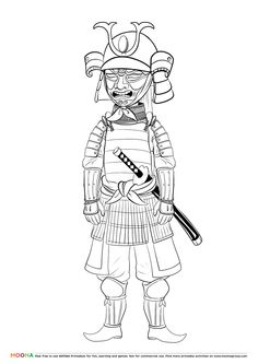 Free Printable Coloring Pages For Toddlers And Preschoolers Samurai Click Through