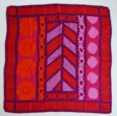 Vera scarf 1960s abstracted geometric and floral by VeraTown