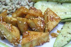 Sweet & Spicy Baked Pineapple Tofu - Vegan