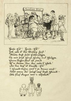 HEINRICH ZILLE - Speise-Eis! Speise-Eis! - Lithografie 1924 | eBay