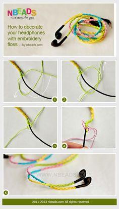 如何用彩线装饰你的耳机