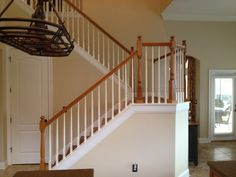 Wooden Banisters Painted Banister Staircases Wood Handrail Ideas