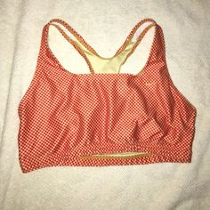 VINTAGE NIKE SPORT BRA IN GREAT CONDITION CUTE CHECKERED PATTERN IT COULD COMPLIMENT THAT KIND OF SPORTY SPICE AESTHETIC. #nike #adidas #hipster #vintage #90's #nineties Nike Intimates & Sleepwear Bras