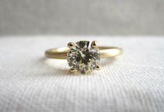 Round Diamond Prong Ring | .70ct at Sarah Perlis Jewelry:http://www.sarahperlis.com/products/_round-diamond-prong-ring-70ct