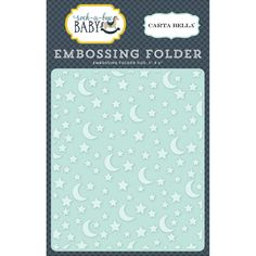 Carta Bella - Rock-a-Bye Baby Boy Collection - Stars & Moon Embossing embossing folder New Crafts, Arts And Crafts, Paper Crafts, Rock A Bye Baby, Baby Boy, Cherry On Top, General Crafts, Big Shot, Embossing Folder