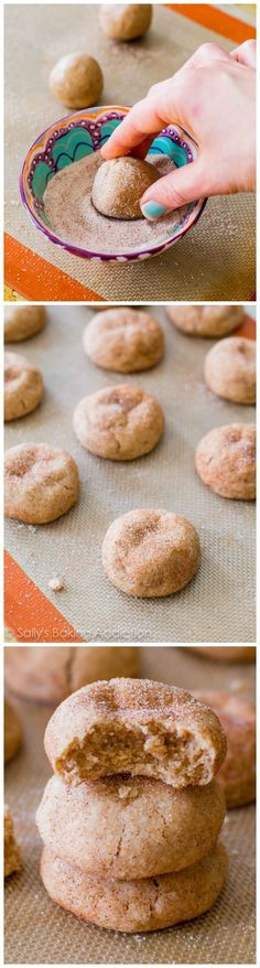 Making soft, thick, & puffy Snickerdoodles at home is easy. And quick! These soft-baked cinnamon sugar cookies only take me about 25 minutes start to finish.