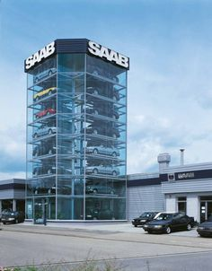 car display tower otto w hr gmbh showrooms pinterest car stacker tower and display. Black Bedroom Furniture Sets. Home Design Ideas