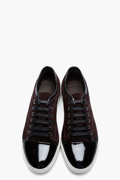 Lavin Burgundy patent and suede tennis shoes