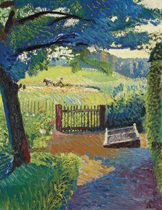 "poboh:  "" Garden overlooking Oschwand, 1938, Cuno Amiet. Swiss (1868 - 1961)  """