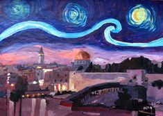 This is our first painting of Jerusalem. Jerusalem is one of the oldes cities in the world. As a holy city it is also the focal point of three major religions. There are references in ancient Egyptian records, dating back to 19h and 18th centuries BCE. This city has seen a lot, it has been destroyed twice, besieged 23 times, attacked 52 times and captured/recaptured 44 times. History of many ages is everywhere - but now enjoy our painting of Jerusalem at Sunse  This is a LIMITED EDITION ...