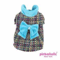 Glee Dog Dress Coat by Pinkaholic - Aqua