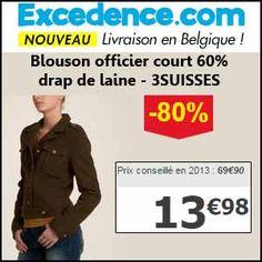 #missbonreduction; Economisez 80 % sur le Blouson officier court 60% drap de laine - 3SUISSES chez Excedence.http://www.miss-bon-reduction.fr//details-bon-reduction-Excedence-i246-c1837348.html