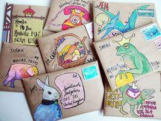 fun mail / fun mail & fun mail for kids & fun mail ideas & fun mail ideas for kids & fun mailbox ideas & fun mail for kids care packages & fun mail envelopes & fun mail ideas creative Mail Art Envelopes, Addressing Envelopes, Kraft Envelopes, Letter Writing, Letter Art, Pocket Letter, Instruções Origami, Snail Mail Pen Pals, Snail Mail Gifts