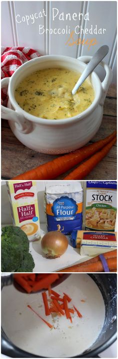 Copycat Panera Broccoli Cheddar Soup Recipe
