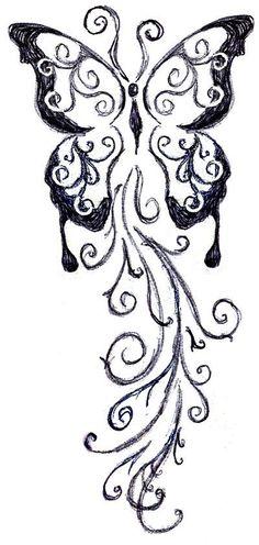 Ideas For Tattoo Butterfly Sketch Art Head Tattoos, Music Tattoos, Wolf Tattoos, Tatoos, Butterfly Sketch, Butterfly Pattern, Tattoo Sketches, Art Sketches, Paintbrush Tattoo