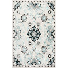 Cool shades of blue and silver lend a tranquil touch to the Home Dynamix Boho Darcia Area Rug . The polypropylene fibers of this rug are designed to. Synthetic Rugs, Traditional Area Rugs, Teal Area Rug, Round Area Rugs, Rectangular Rugs, Throw Rugs, Blue And Silver, Colorful Rugs, Rug Size