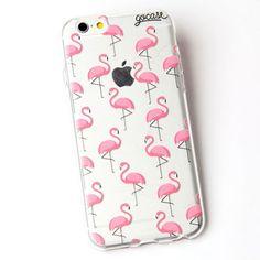 Custom Phone Case Pink Flamingos