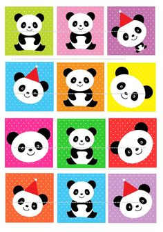Panda Edible cake topper wafer rice paper for cake and cookie Panda cupcake…