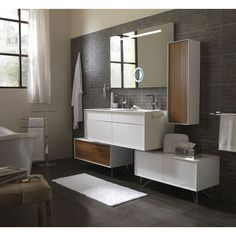 1000 images about meubles et accessoires se salle de bain on pinterest dra - Miroir eclairant ikea ...