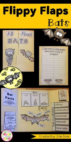It's time for bat week! Do you think bats are creepy, spooky, or neat? Your kids will be jumping with excitement when to learn all about bats! They will explore all about bats in this fun, hands-on, interactive Lapbook! Your students will be engaged and learn about bats in many different ways!  What activities are included: ☆ Bats can/have/are ☆ Label a bat ☆ Life Cycle of a Bat ☆ All About Bats ☆ Bats KWL ☆ Bats Vocabulary ☆ Bat Facts ☆ Favorite Bat Book ☆ Compare Bats & Owl ☆ Compare Bats and
