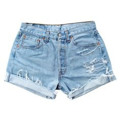 Vintage 501 Levis VS102 [W29] (315 MYR) ❤ liked on Polyvore featuring levi's, cut-off and levi cut offs
