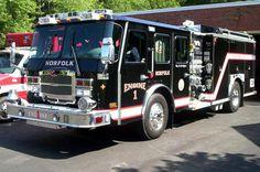 Norfolk black fire truck.