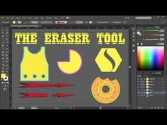 How to Cut a Shape in Adobe Illustrator – the Eraser Tool - Bemailler Graphic Design Lessons, Graphic Design Fonts, Graphic Design Tutorials, Logo Design, Adobe Illustrator Tutorials, Photoshop Illustrator, Ai Illustrator, Flat Design, Do It Yourself Design