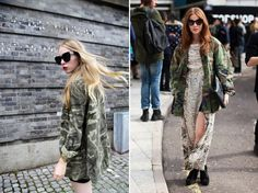 Pair an oversized camo jacket with a maxi dress #SocialblissStyle #camo #jacket