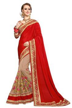 Designer Sarees Wedding, Saree Wedding, Red Saree, Sari, Party Wear Sarees, Cotton Saree, Sarees Online, How To Wear, Shopping