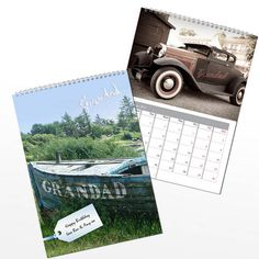 Personalised Grandad Calendar from Personalised Gifts Shop - ONLY Personalised Calendar, Personalised Gifts, Personalized Gifts For Grandparents, Book Stationery, Calendar Design, Book Gifts, Months In A Year, Fathers Day, Great Gifts